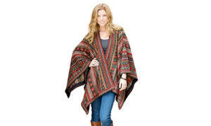 Invisible World Wool Poncho