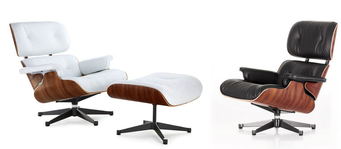 Best Eames Chair Replica Reproductions Lounge Ottoman Of Year Style Within Reach