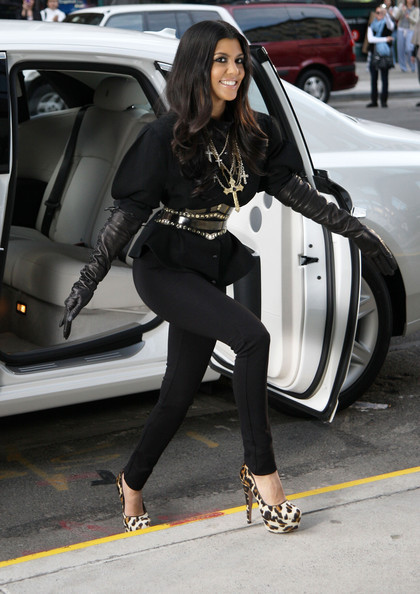 kourtney kardashian Opera Gloves