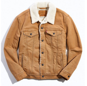 Urban Outfitters Canvas Sherpa Trucker Jacket