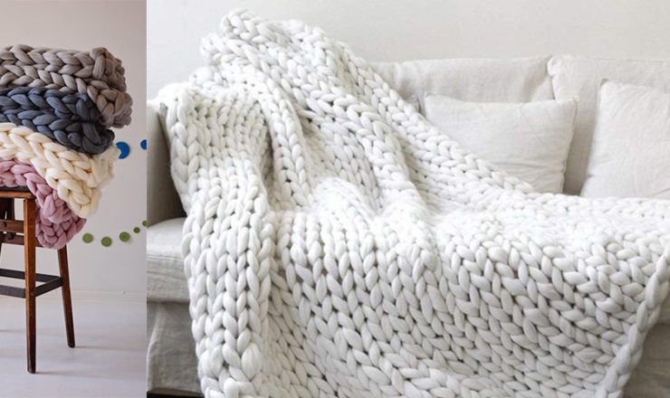 Chunky Knit Blanket – Where to Buy These Giant, Soft Blankets!