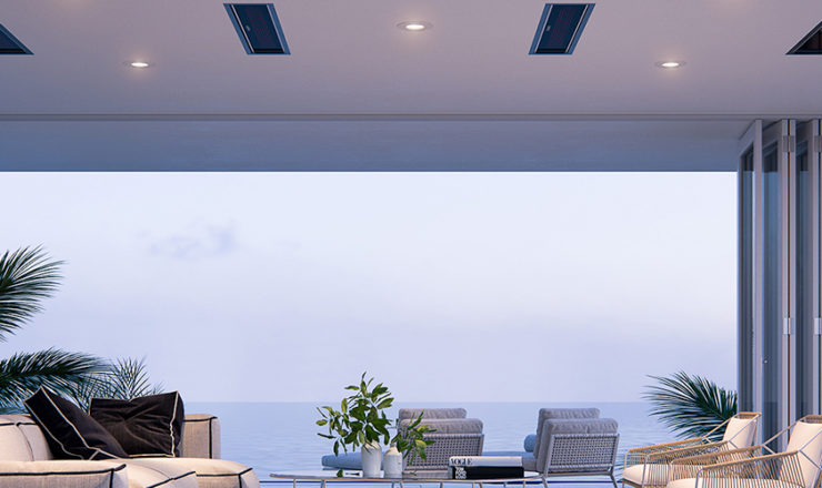 Overhead & Hanging Electric Patio Heaters for your Home & Business