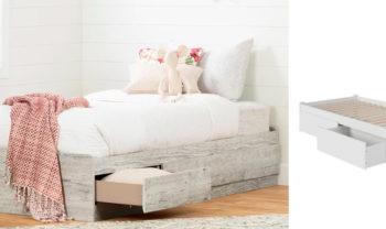 Twin Platform Bed with Storage