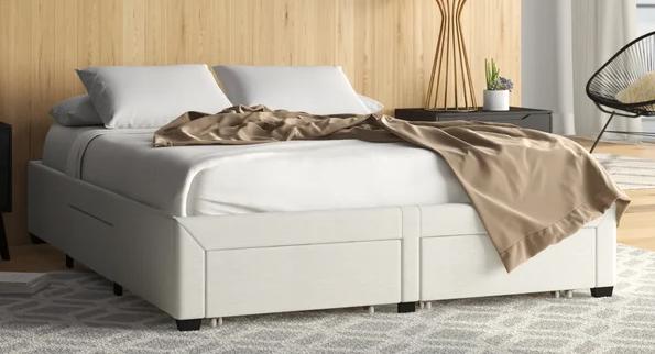 Braham Queen Upholstered Storage Platform Bed