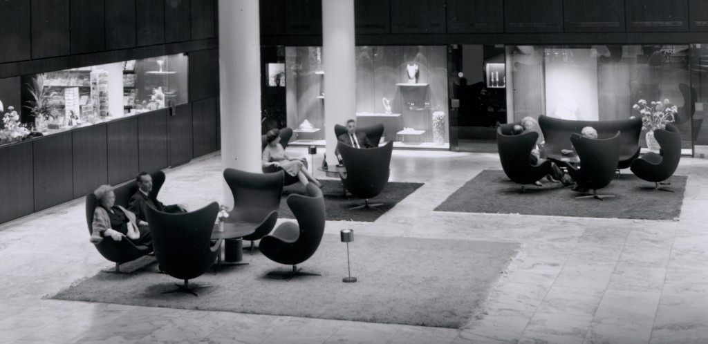 Egg Chairs in Lobby