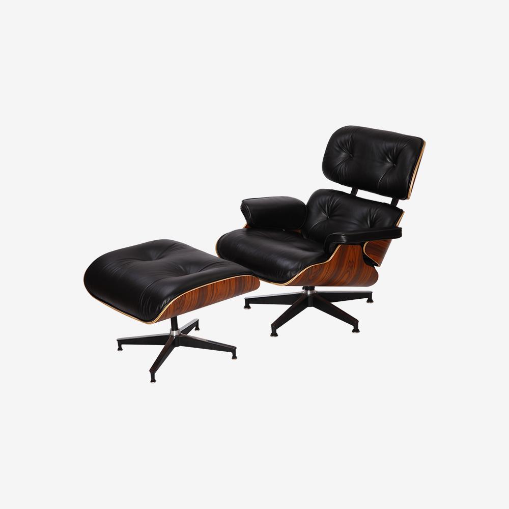 Emma Lounge Chair and Ottoman – Black Palisander