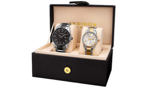 His-and-Hers-Quartz-Two-tone-Watch-set