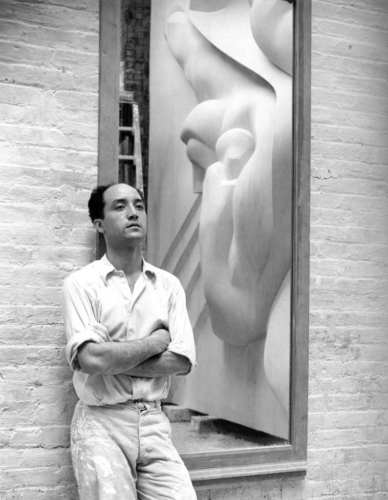 Isamu Noguchi Working