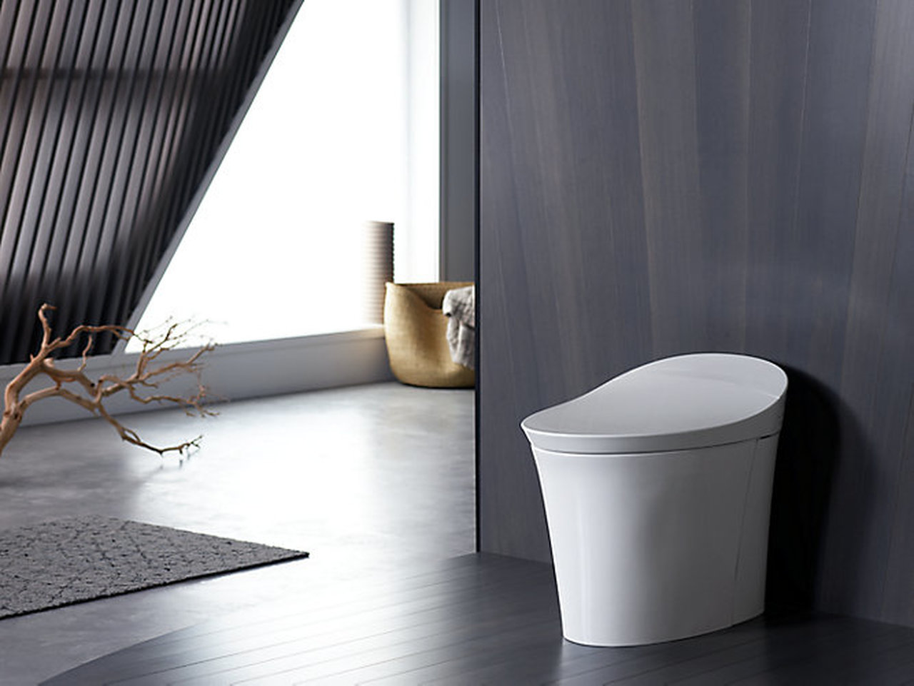 KOHLER K-5401-0 Veil Skirted Dual Flush