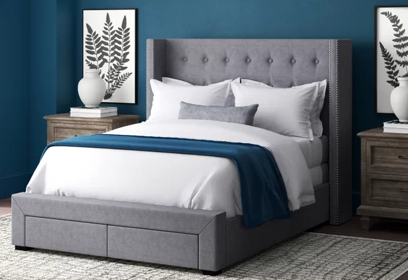 Kerens Tufted Upholstered Storage Standard Bed