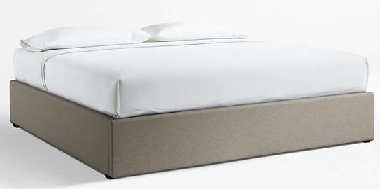 King Upholstered Gas-Lift Storage Bed Base Grey