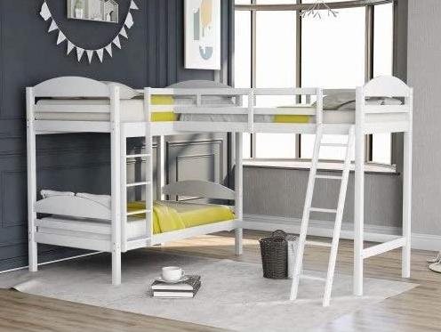 L shaped bunk bed