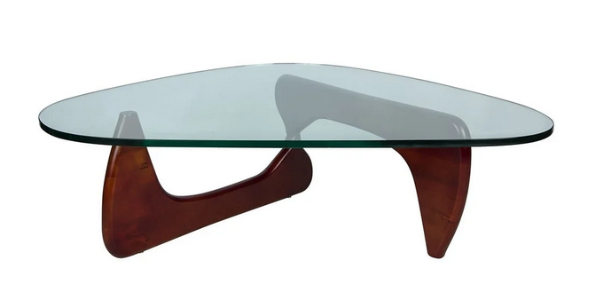 LeisureMod Imperial Triangle Coffee Table