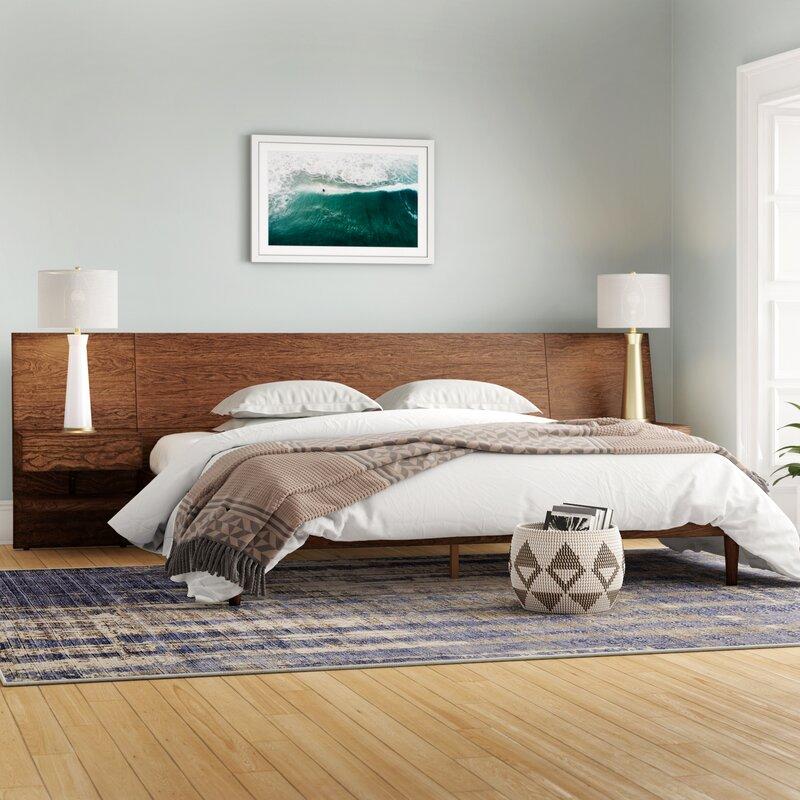 Modern Rustic Interiors Platform Bed