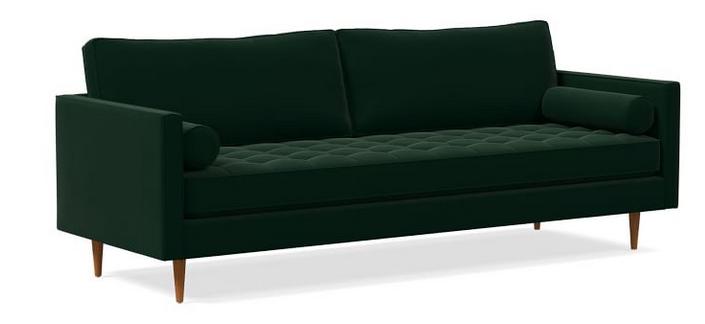Monroe Mid-Century Tufted Seat Sofa