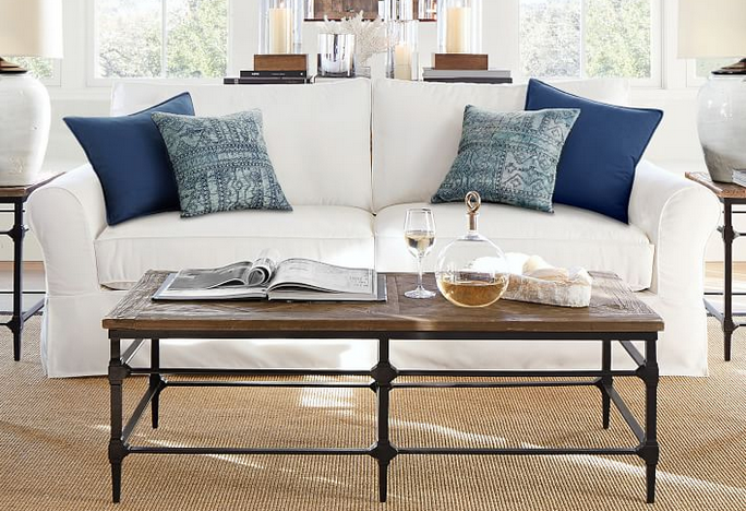 PB Comfort Roll Arm Slipcovered Sofa