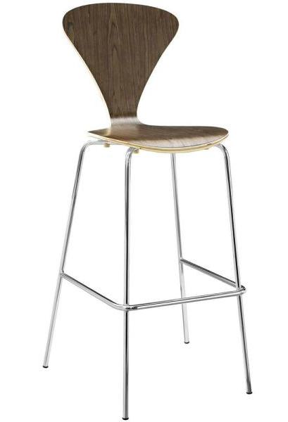 Passage 31 in. Walnut Bar Stool