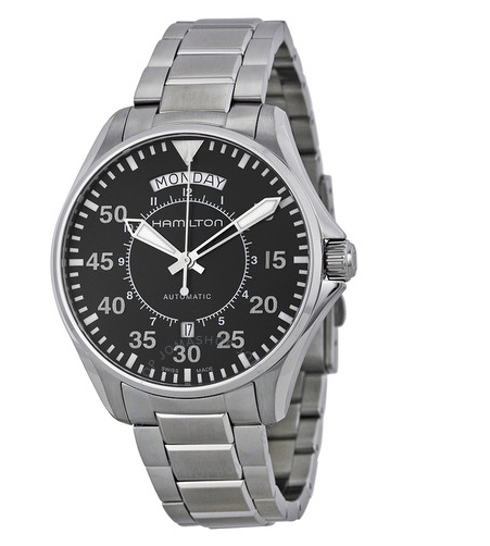 Pilot Day Date Automatic Black Dial Men's Watch
