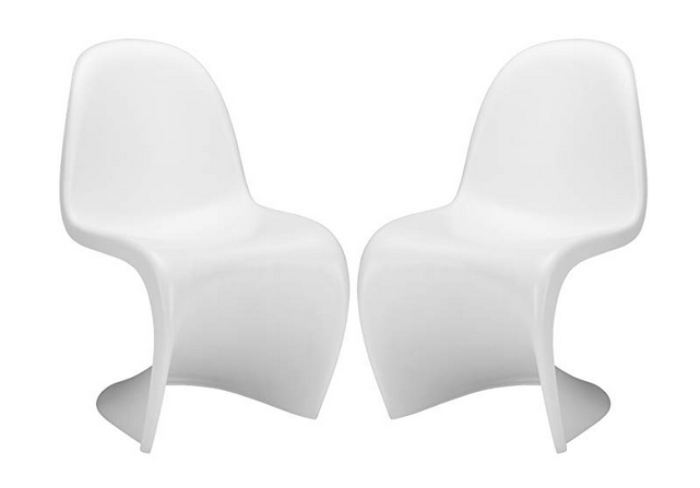 Poly and Bark S Chair in White