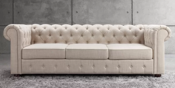 Quitaque Chesterfield Tufted Roll Arm Sofa