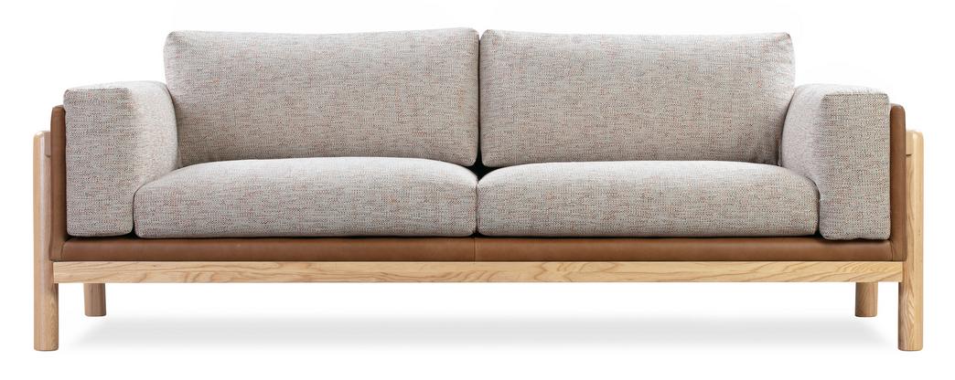 "Russet & Blossom Nordic 83"" Fusion Sofa"