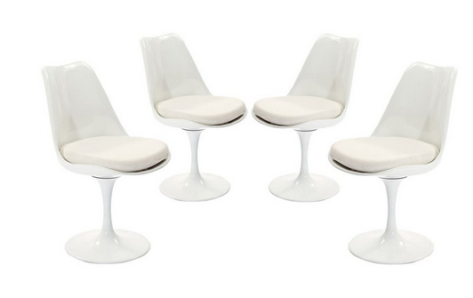 Set of 4 Modway Lippa Dining Chairs