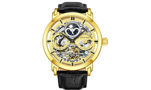 Stuhrling Original Men's Automatic Self-Wind Skeleton Wristwatch