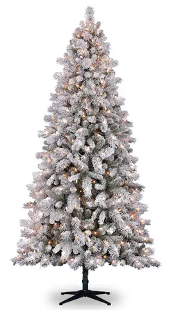 Vermont Pine Flocked Artificial Clear Lights Tree
