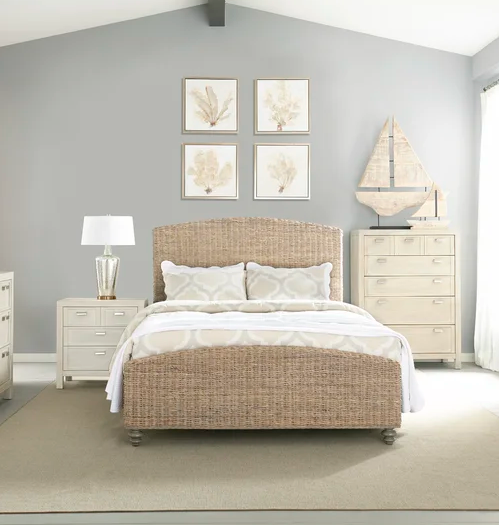 Woven bed frames