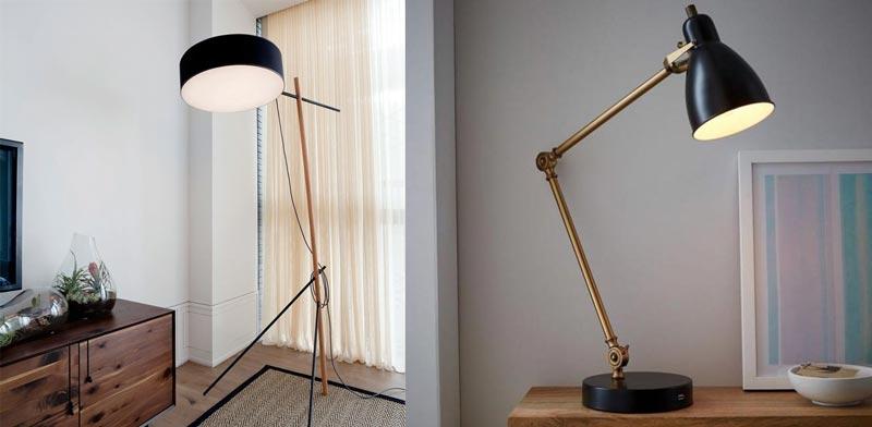 floor and desk lamps