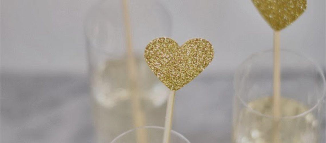 Little Gold Hearts DIY