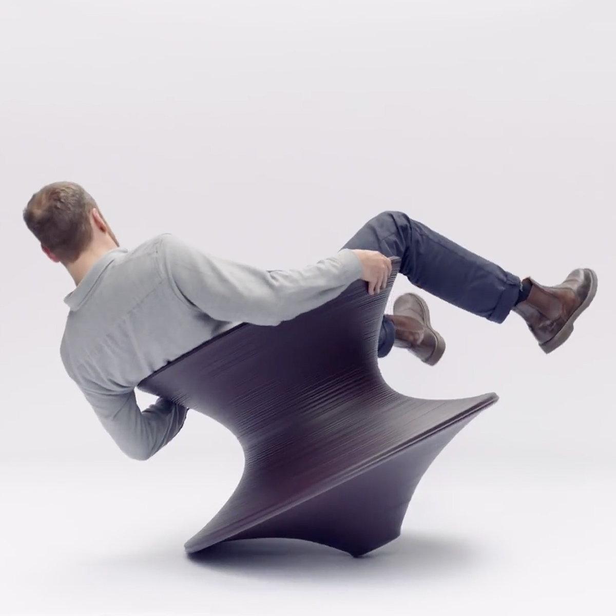 Herman Miller  Magis Spun Chair Grey Anthracite