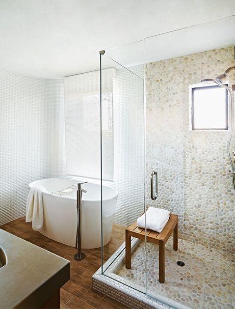 teak shower